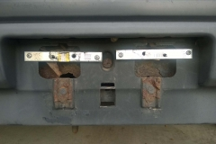 Rusted Out License Plate Brackets