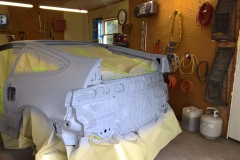 Rear of Car in Being Primed